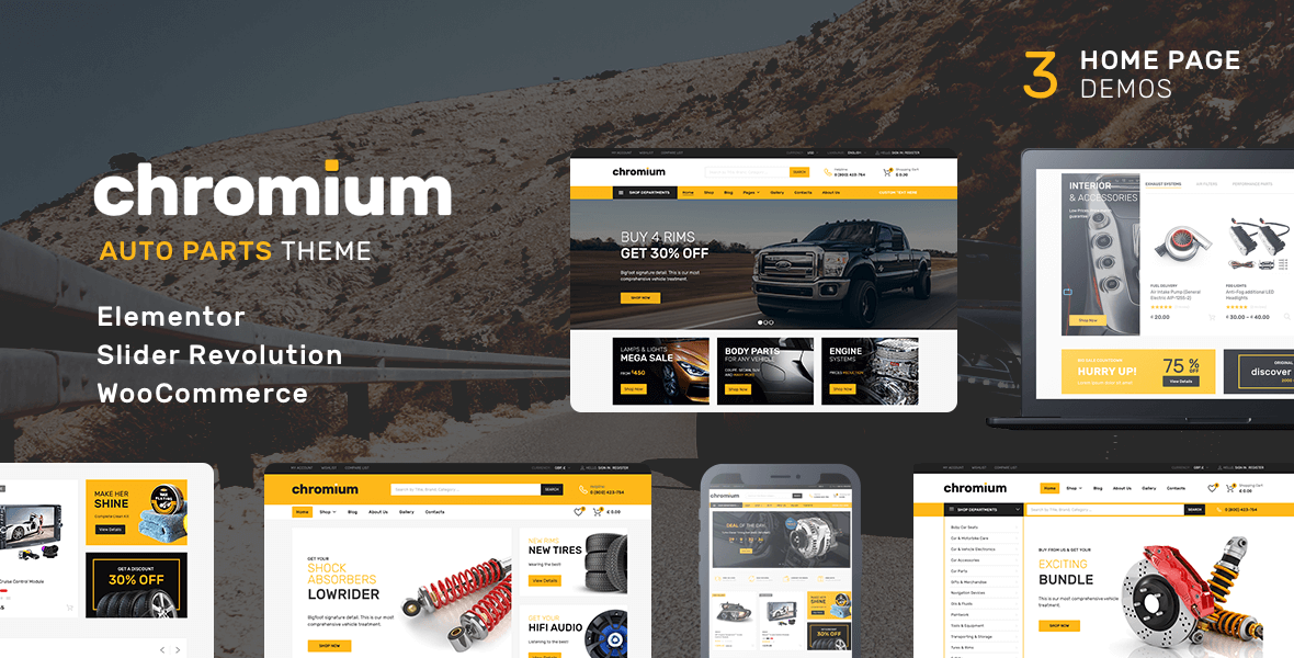 Chromium – Shopify Auto Parts Theme