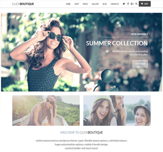 ClickBoutique Fashion Shop WooCommerce Theme