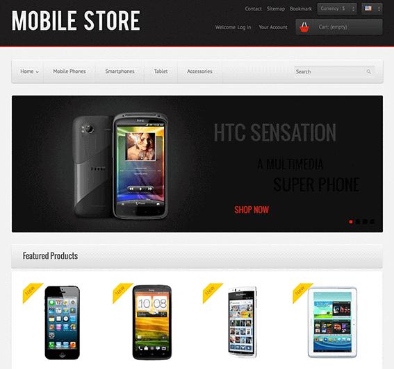 Mobile Shop Cell Phones and Gadgets Prestashop Theme