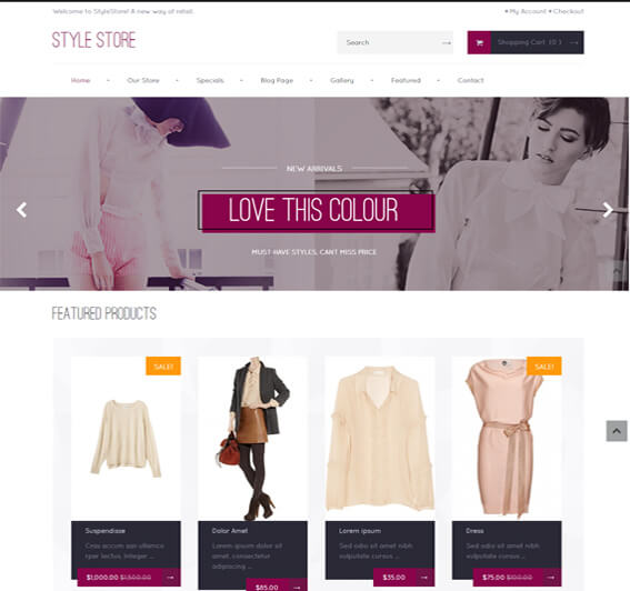 Free WooCommerce Fashion Theme Style-Shop