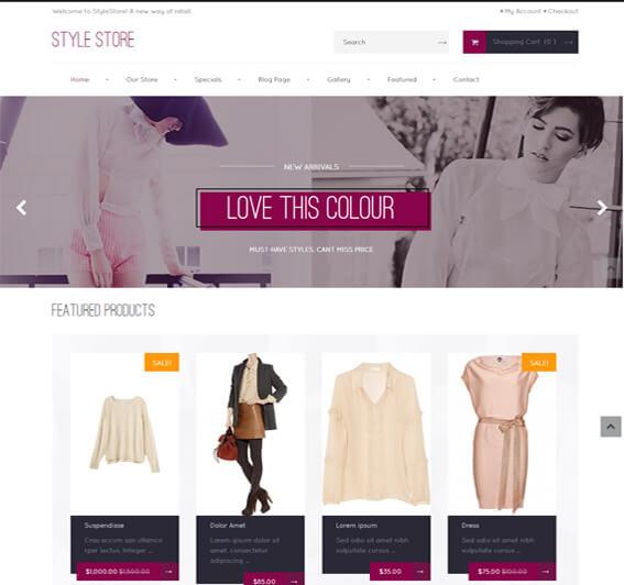 Free WooCommerce Fashion Theme Style-Shop