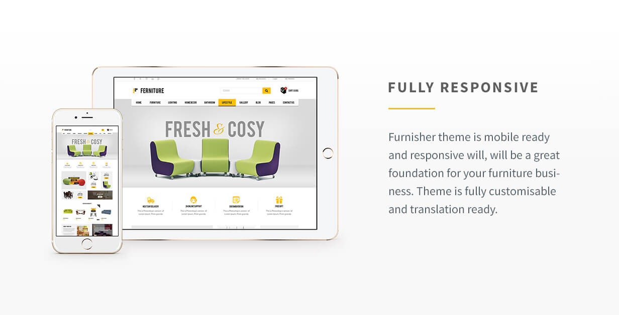 <b>Furnisher</b> WooCommerce Furniture Shop Theme