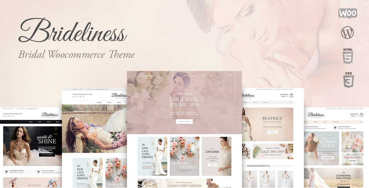 <b>Bridelines</b> Wedding Shop WooCommerce Theme