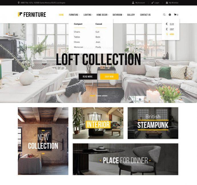 Furnisher WooCommerce Furniture Shop Theme