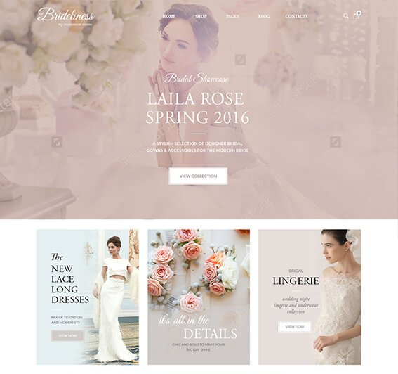 Bridelines Wedding Shop WooCommerce Theme