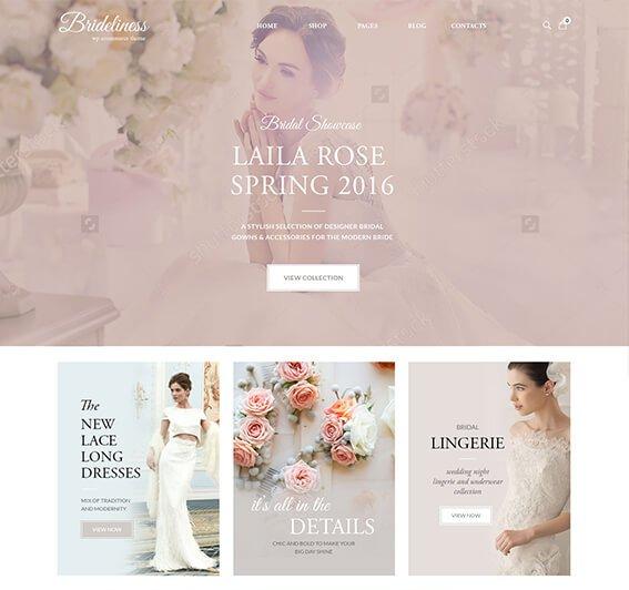 Bridelines Wedding Shop WooCommerce Theme