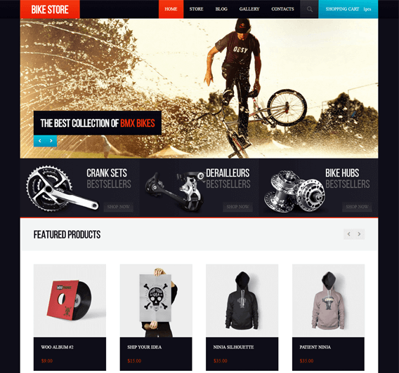 BikeStore WooCommerce WordPress Bicycle Theme