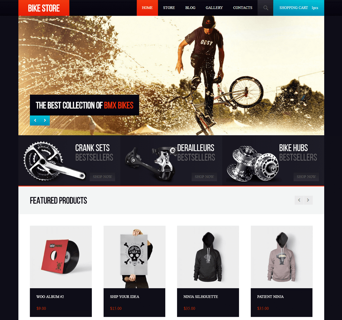 Meet BikeStore – the New Awesome Free WooCommerce Theme