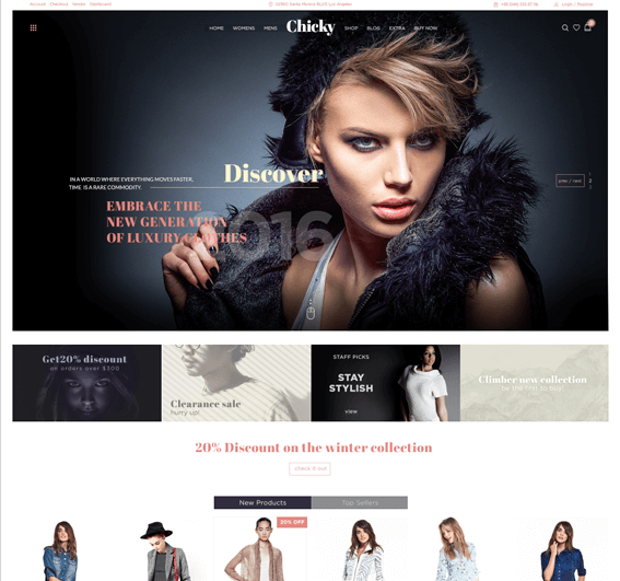 Chicky – WordPress Fashion Marketplace Theme