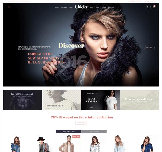 Chicky – WordPress Fashion Marketplace Theme