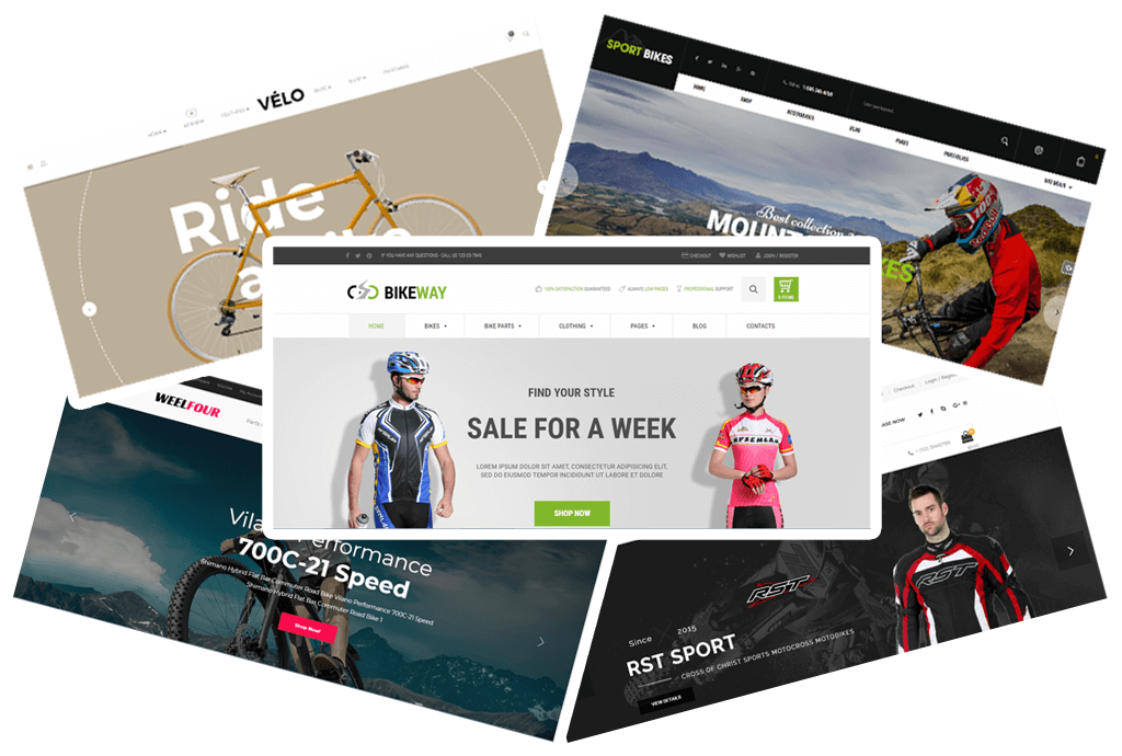 5 trendy Bike & Bicycle Parts Shop WooCommerce Themes 2018