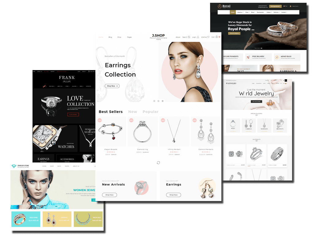 Fabulous collection of 5 Jewelry WooCommerce WordPress Themes 2018