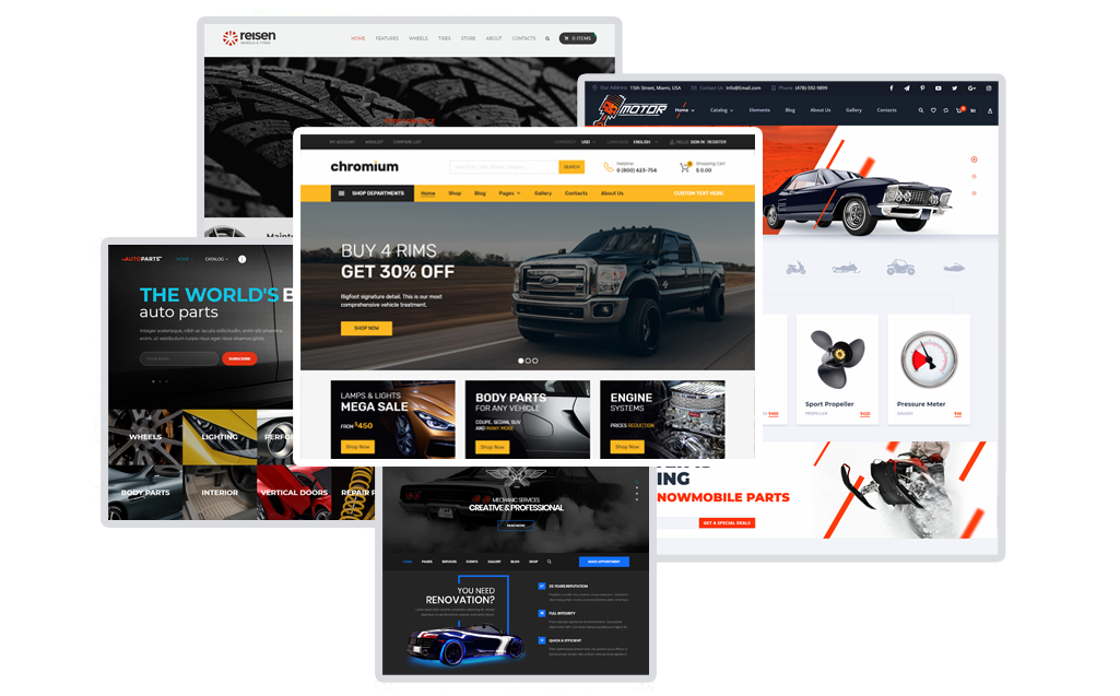5 Most highly customizable Cars WordPress themes based on Woocommerce 2018