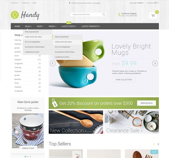 Handy Handmade Store – WordPress WooCommerce Theme