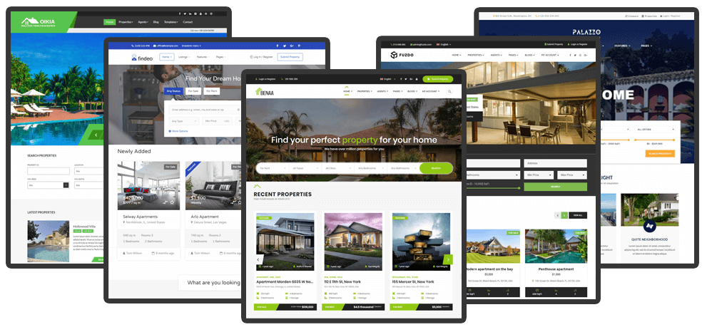 5 Most Trendy Real Estate WordPress Themes 2018