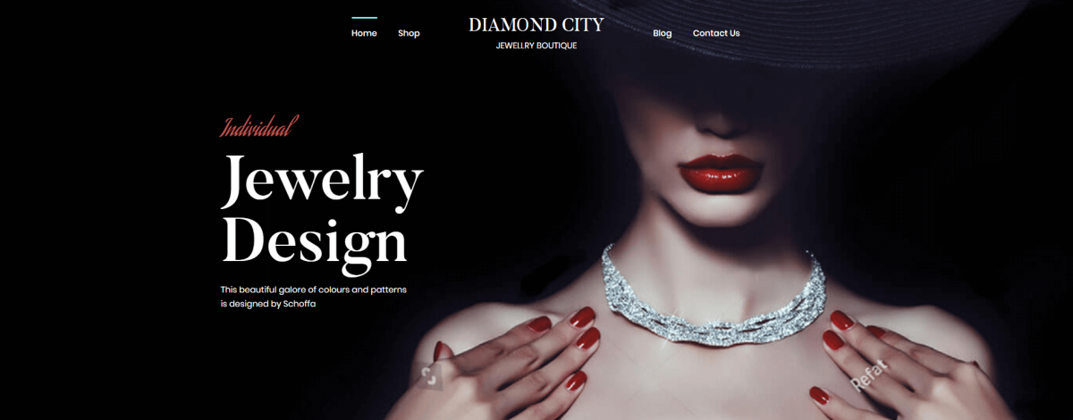A Perfect Jewelry Banner for a WordPress Jewelry Site
