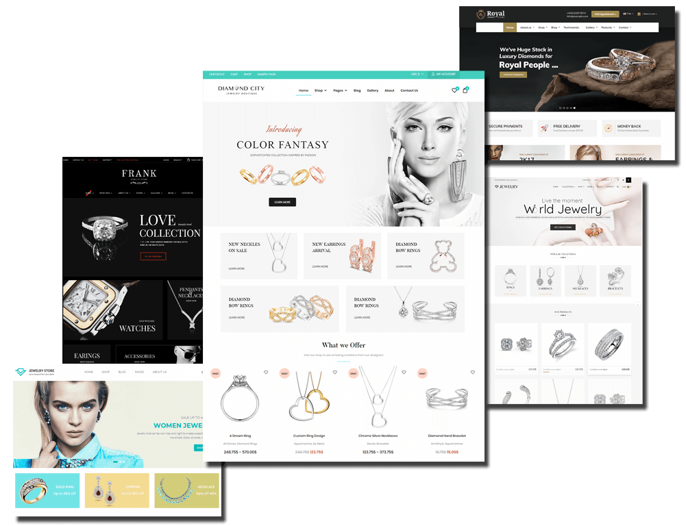 Fabulous collection of 5 Jewelry WooCommerce WordPress Themes 2019