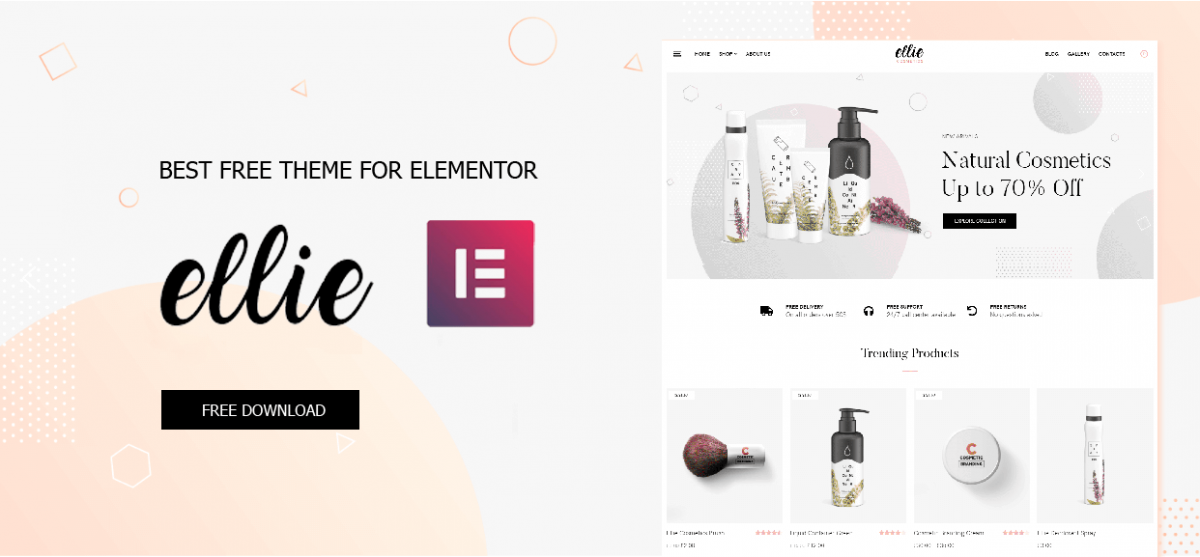Best Free Theme for Elementor – Ellie theme for Elementor