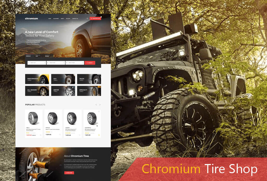 Chromium WooCommerce Tire Shop Theme