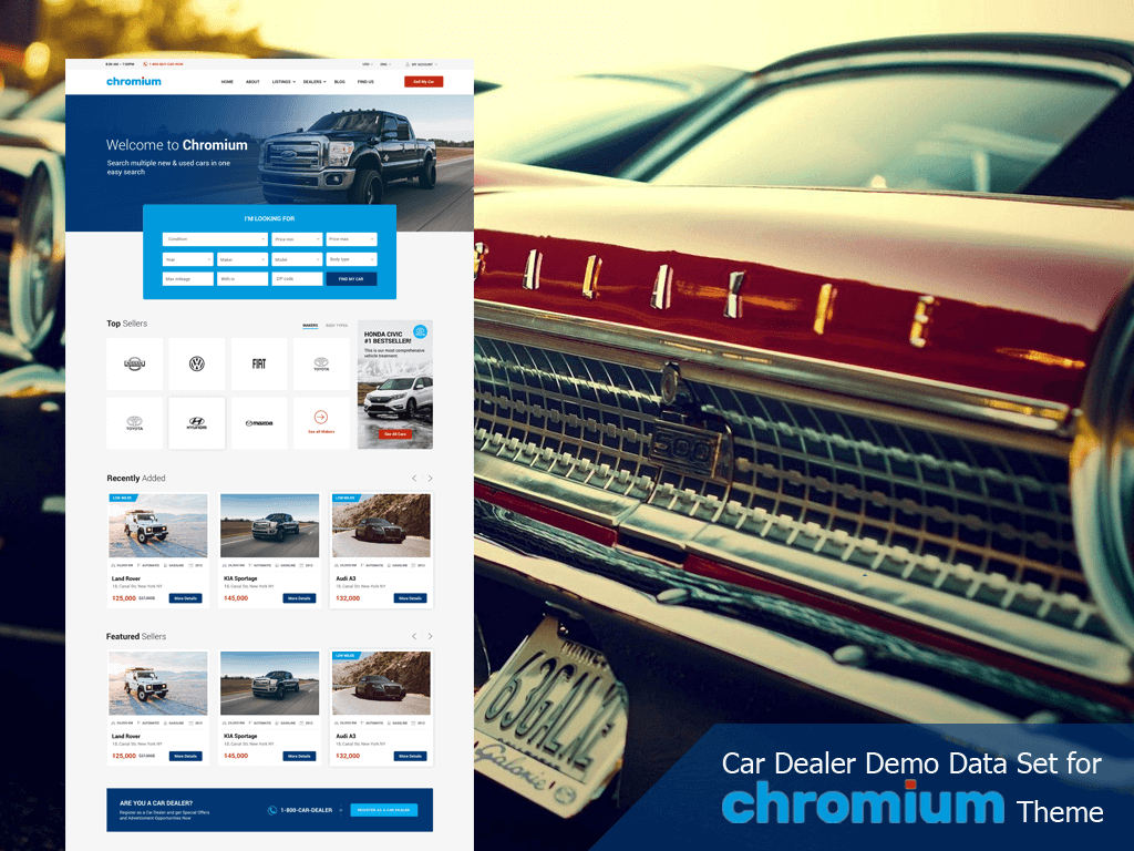Chromium – The Best Car Dealership WordPress Theme