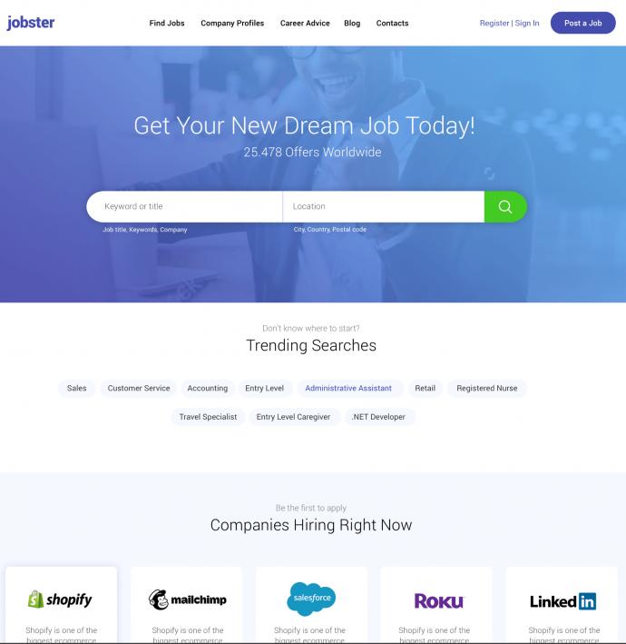 WordPress Job Board Theme Jobster