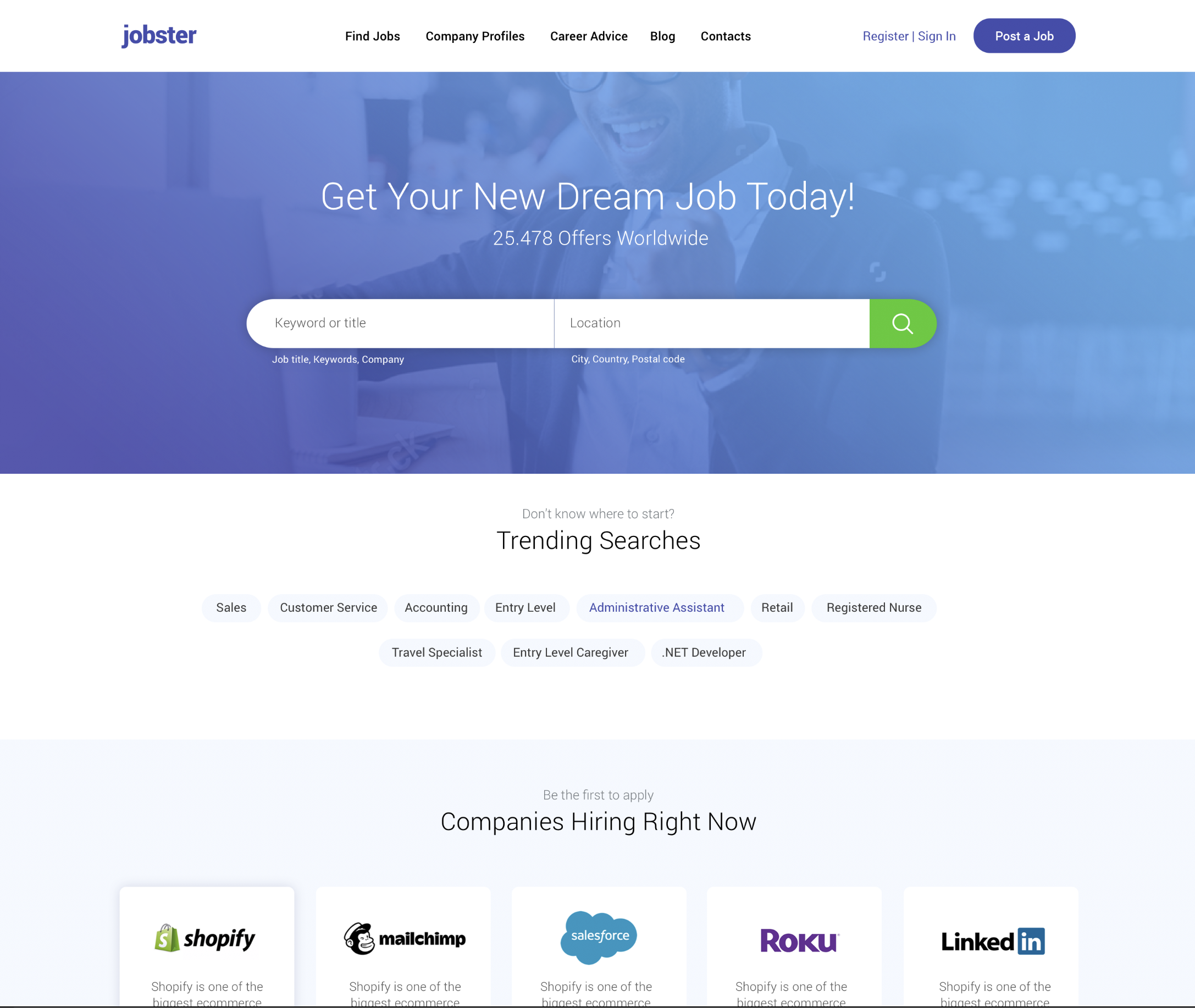 WordPress Job Board Theme Jobster