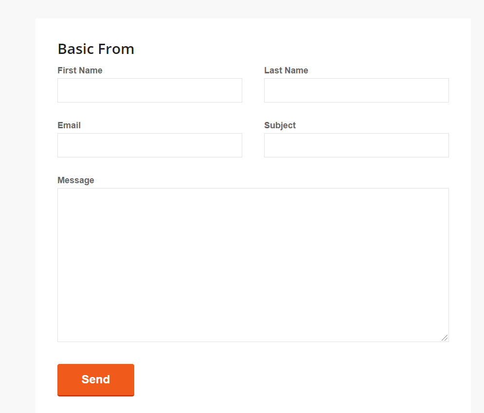 Basic contact form examples