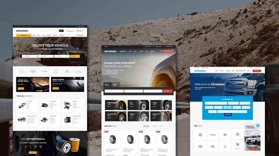 Chromium WordPress Theme with the Best Car Dealership Filters
